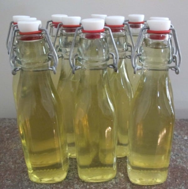 bottles of limoncello