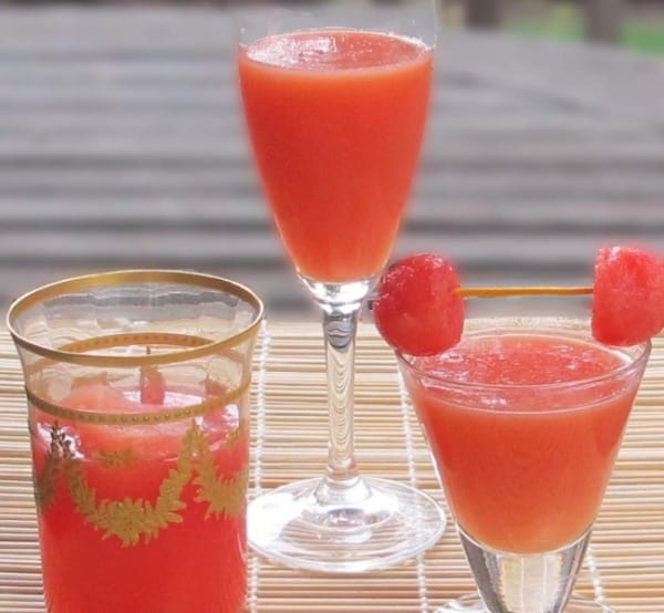 how to make drinks with watermelon juice