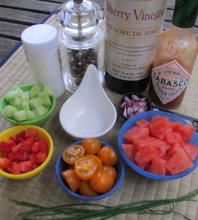 how to make watermelon gazpacho