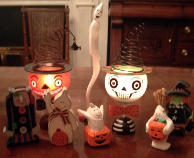 Halloween candle decorations