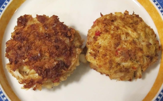 baked and fried crabcakes