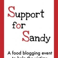 Food Bloggers Support for Sandy Relief (and a Recipe)