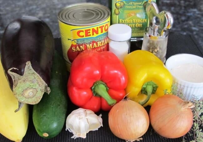Ingredients for Easy Winter Ratatouille