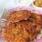 plate of latkes