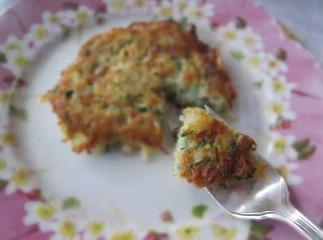 potato pancake or latke with zucchini and dill