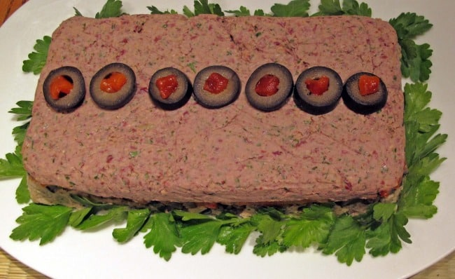 how to unmold and garnish the vegetable pate