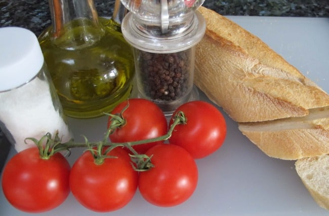 ingredients for bruschetta