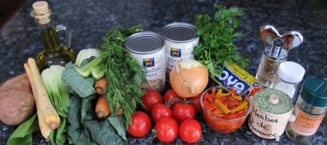 ingredients for vegetable stew