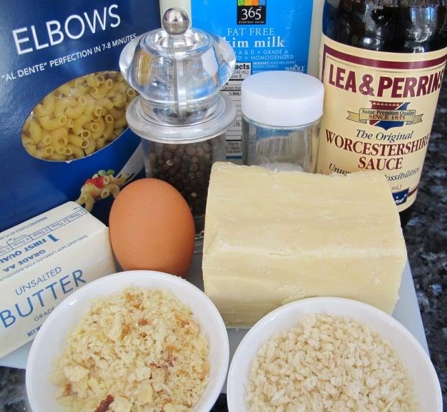 Ingredients for single serving mac 'n cheese.