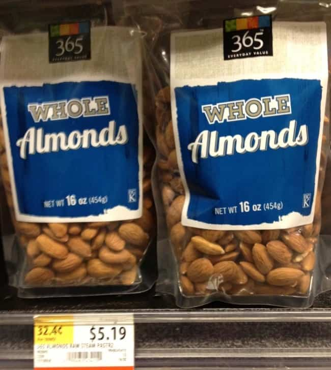 1 pound package of raw almonds