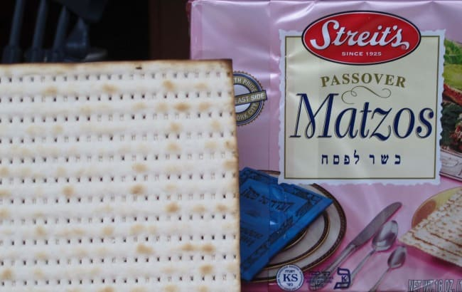 An important fact for your first seder. Passover means matzo, from the seder on the first night through the last night of the holiday.