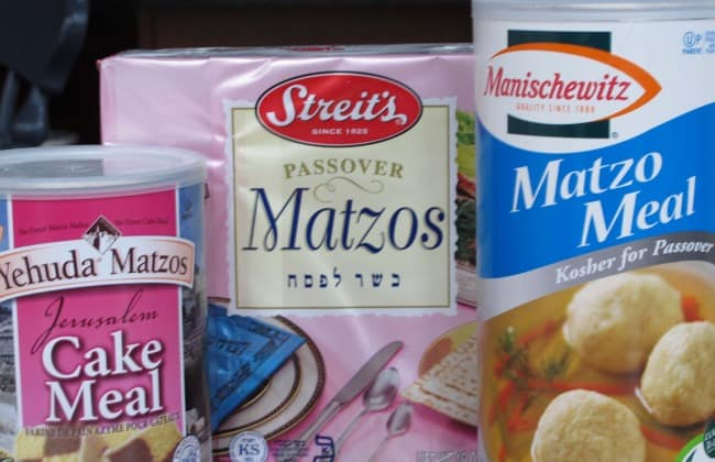 At your first seder you may experience matzo in these 3 forms: whole crackers, matzo meal and matzo cake meal are the main ones.