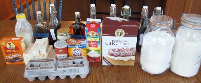 ingredients for vanilla desserts