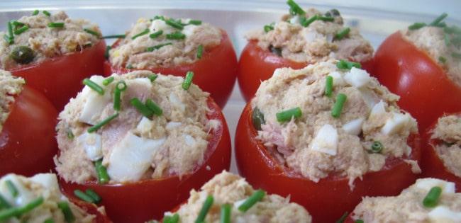 filling stuffed tomatoes