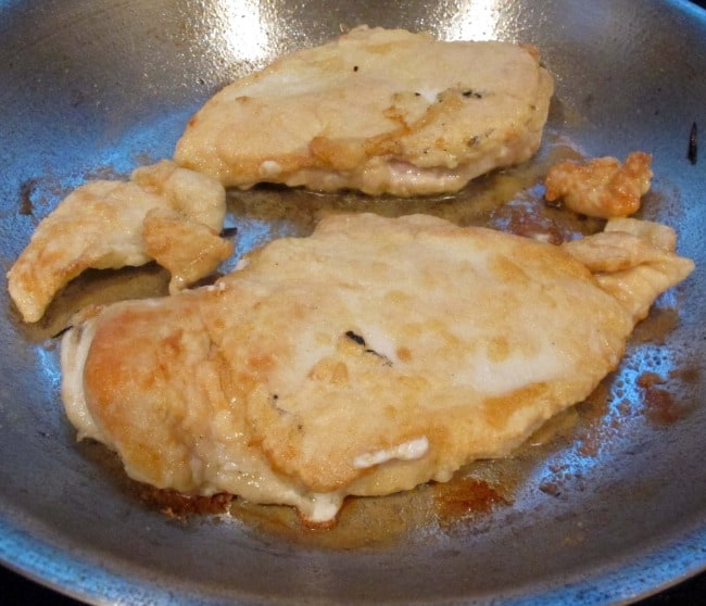 sauteeing boneless chicken breasts