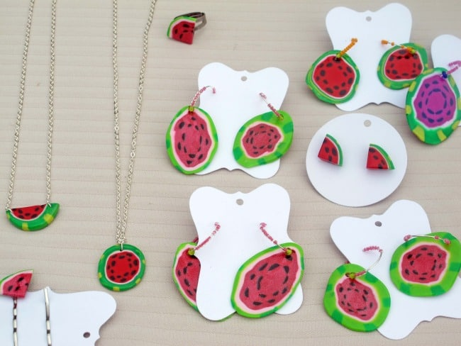 watermelon-themed jewelry