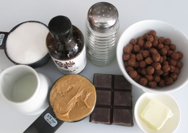 ingredients for single serving chocolate dessert