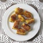 Cornmeal-crusted okra on plate