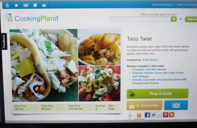 Cooking Planit website