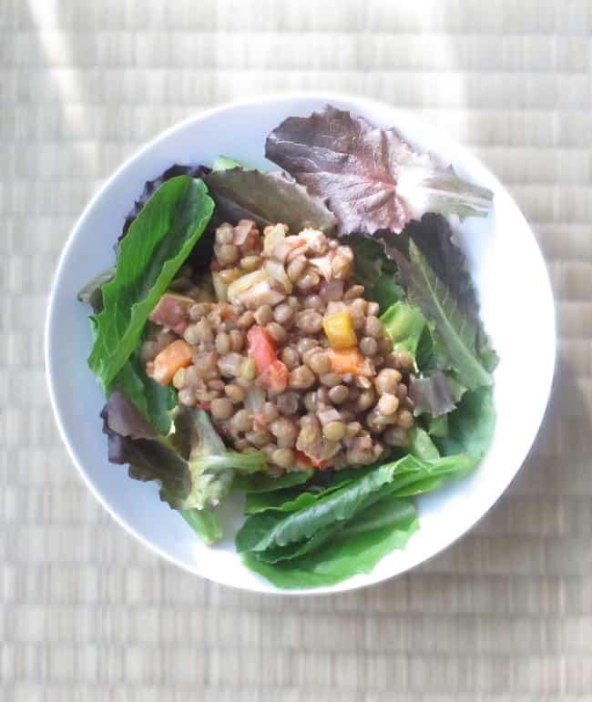 lentil-salad-on-plate