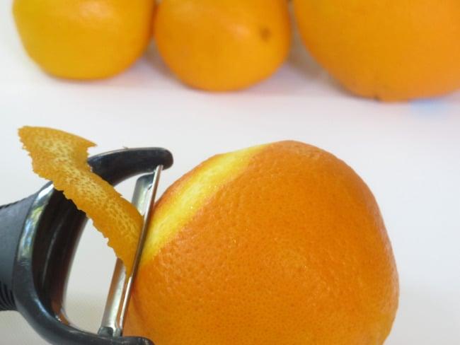 zesting orange