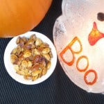 a bowl of roasted pumpkin seeds