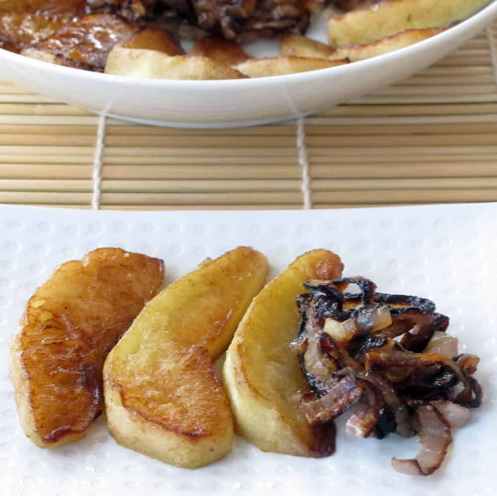 Apples and shallots sauteed to perfection. A simple side dish that will take your dinner up a notch.   Mother Would Know