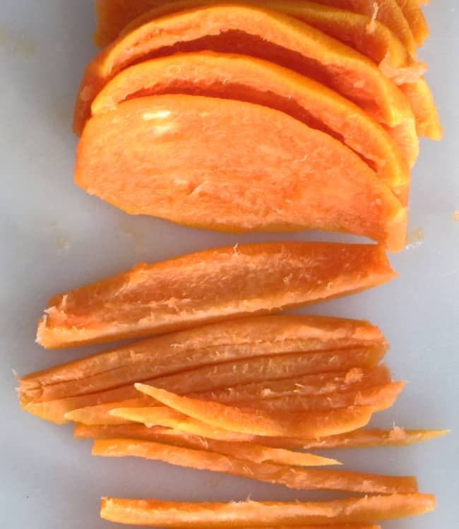slicing grapefruit peel