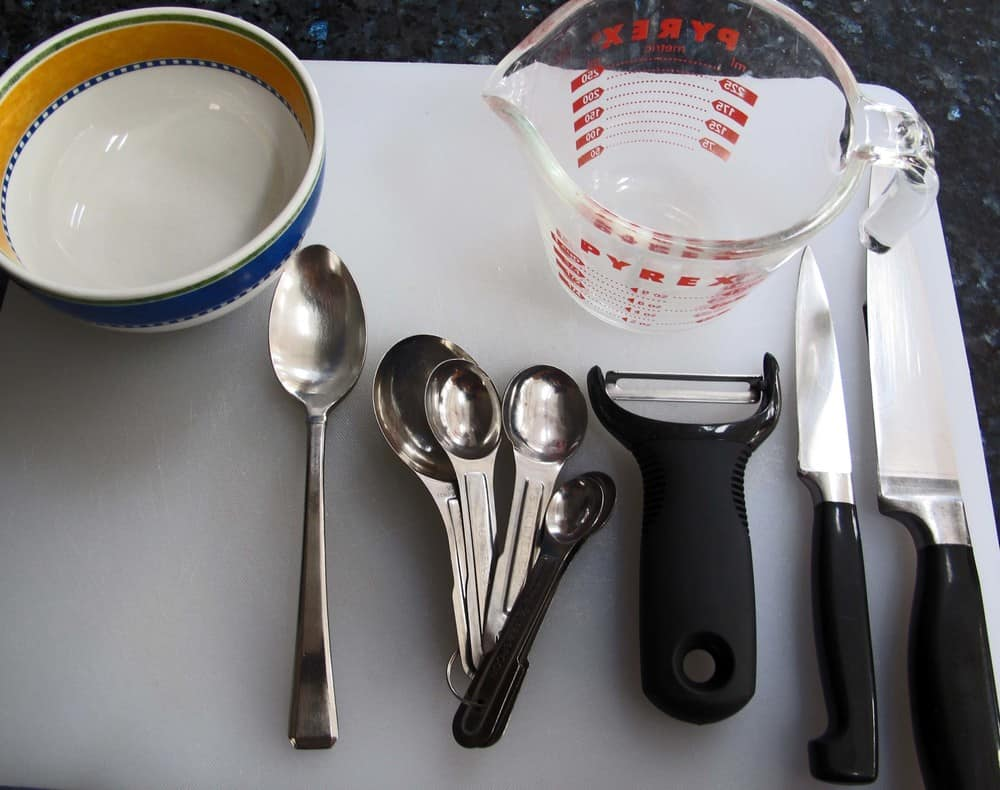 equipment for making chicken tagine with carrots and potatoes