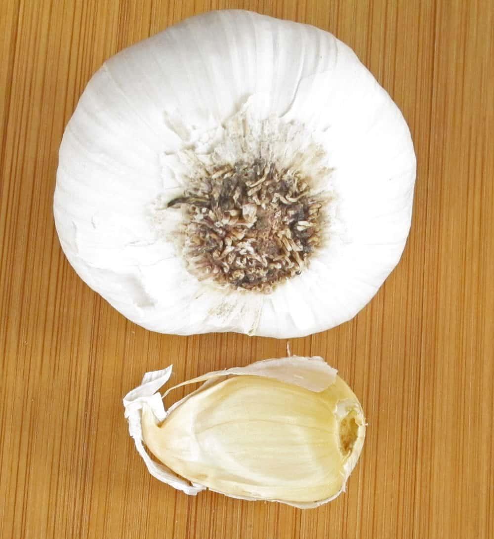 a head of garlic and a clove