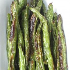 a few roasted green beans