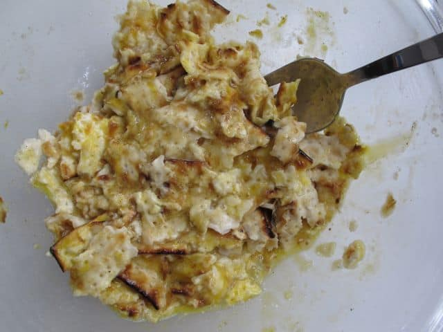 ... matzoh will break up more and the resulting mixture has matzoh pieces