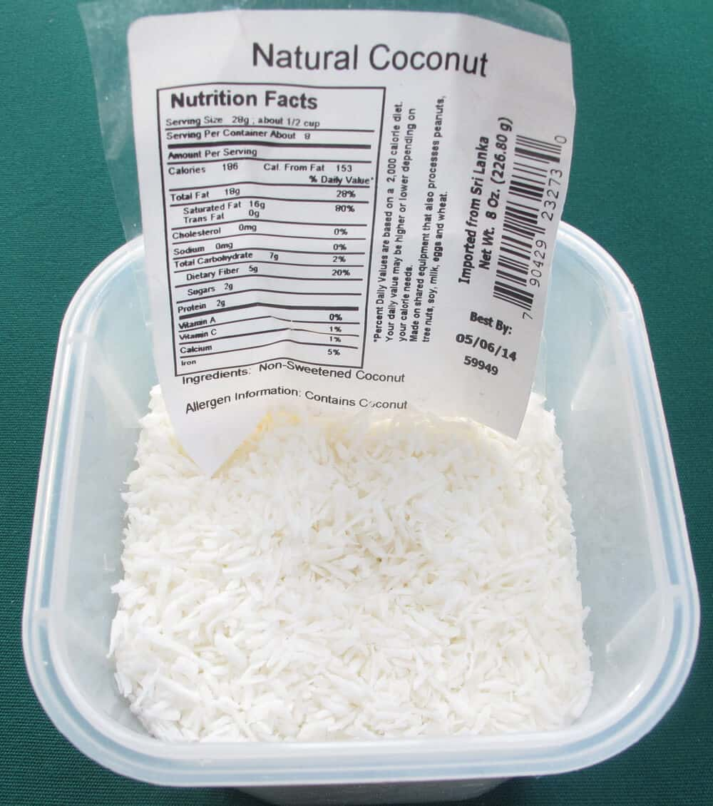 Substitute unsweetened coconut for sweetened if you know the conversion recipe.