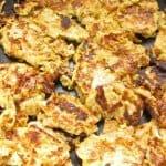 Frying second side of matzo brei