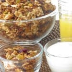 matzo granola set out for breakfast