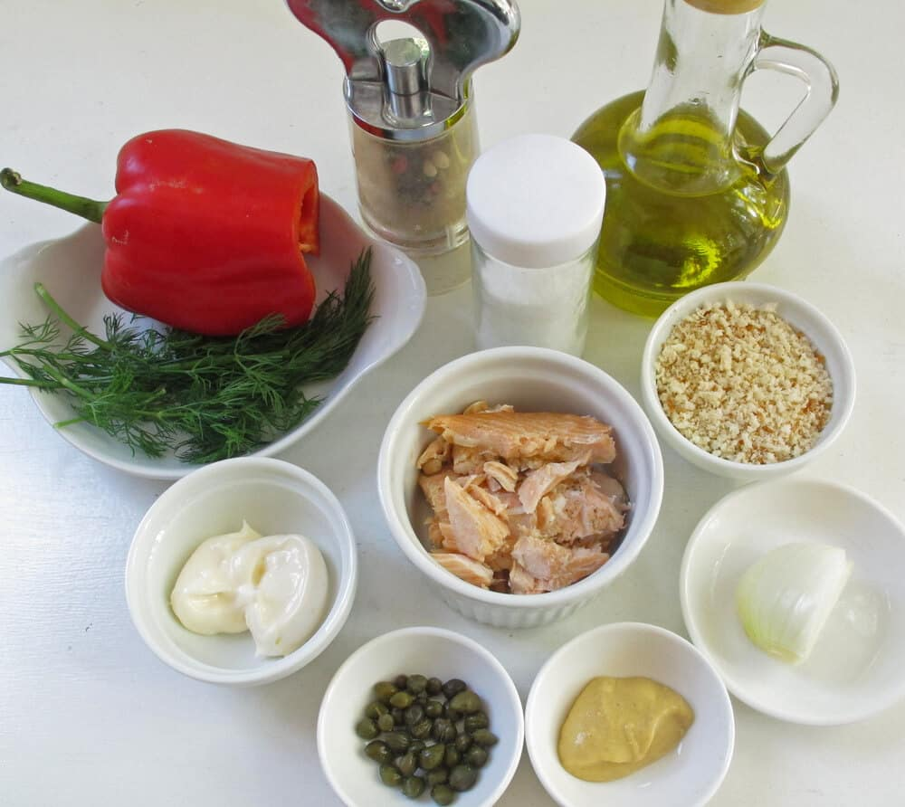ingredients for salmon cakes