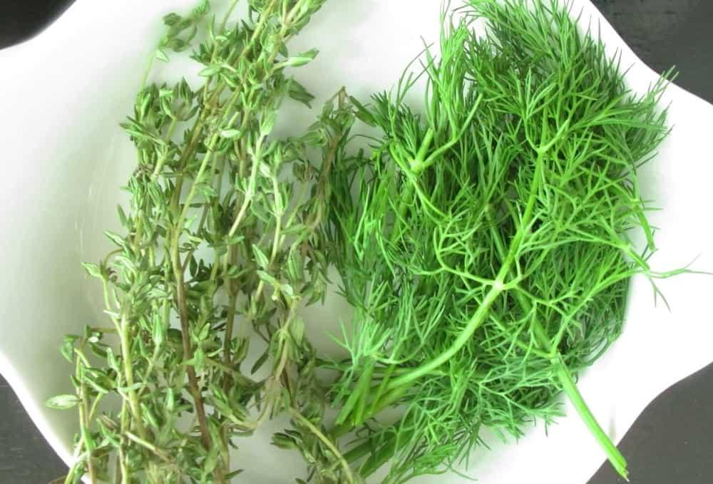 fresh herbs for vinaigrette salad dressing