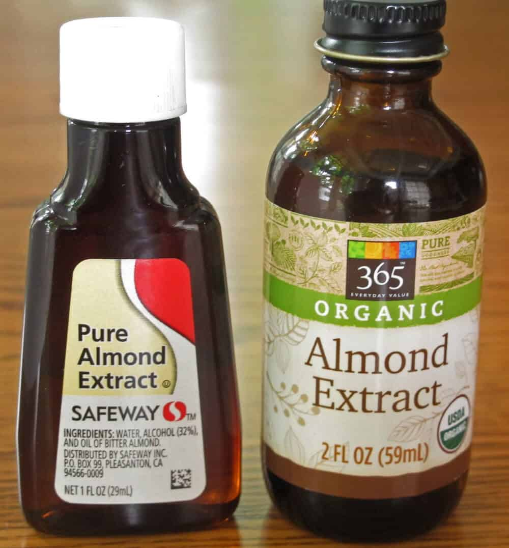 Two brands of almond extract for my taste test