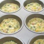 batter for Easy Western Omelette Muffins before baking