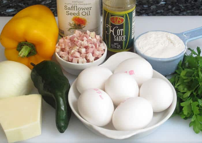 Ingredients for Easy Western Omelette Muffins