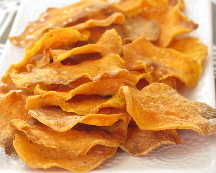 It's easy to make baked sweet potato chips that are better than store ...