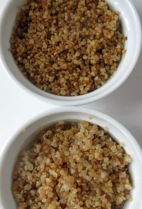 Comparing quinoa cooked from raw or toasted first. | Mother Would Know