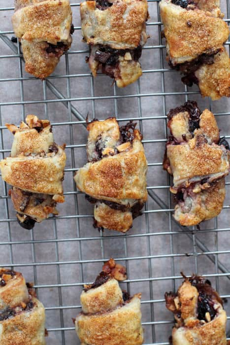 Chocolate cherry rugelach are perfect gifts for someone you love.