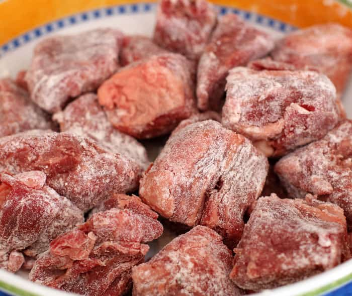 Beef cubes for hearty beef stew