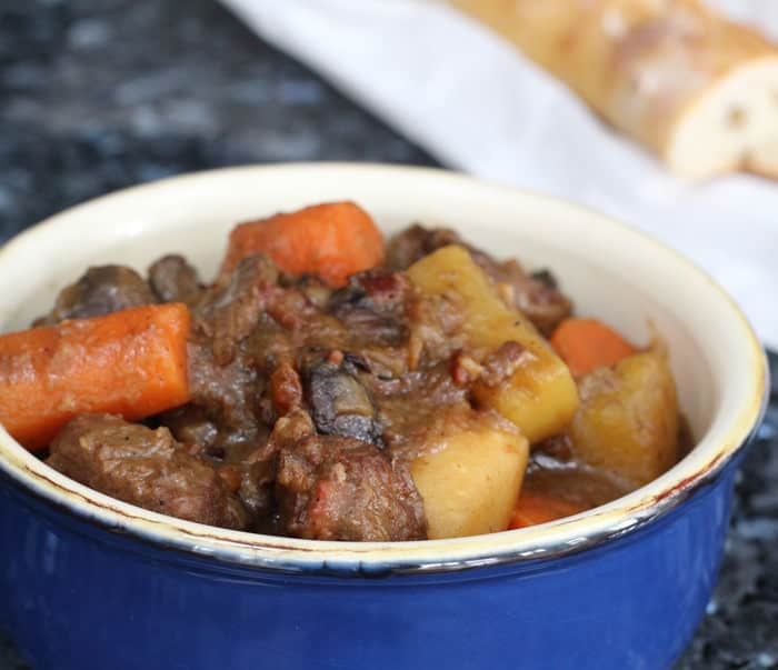 Hearty beef stew - a delightful one-pot dinner for a cold night.
