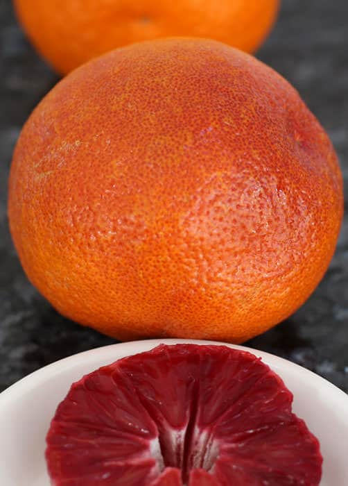 Blood oranges are a wonderful treat.
