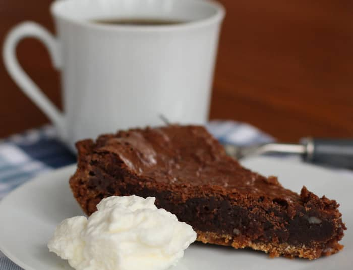 Chocolate chess pie is incredibly easy and tasty - a perfect chocolate dessert.