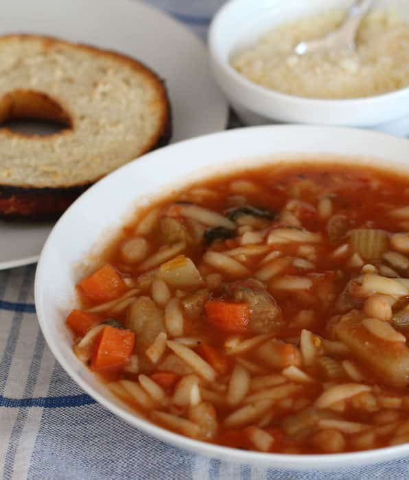 Slow Cooker Vegetarian Minestrone - Mother Would Know