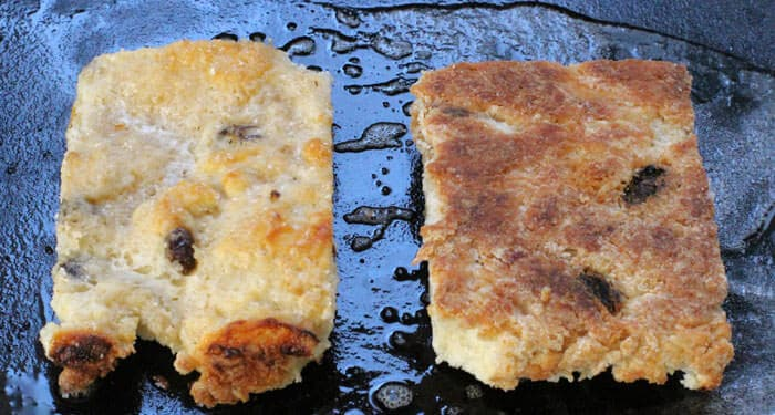 cooking real Irish scones on a griddle