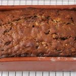 Date nut bread cooling on rack